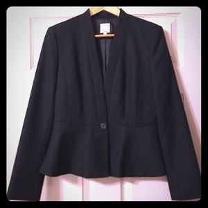 Halogen/Nordstrom size 6 women's black blazer